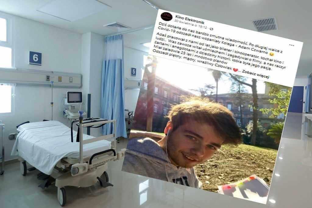Koronawirus. Nie żyje 25-letni Adam. Zmarła również jego mama