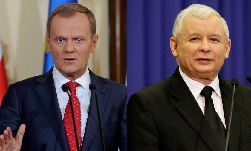 Sondaż: Wolą Tuska od Kaczyńskiego