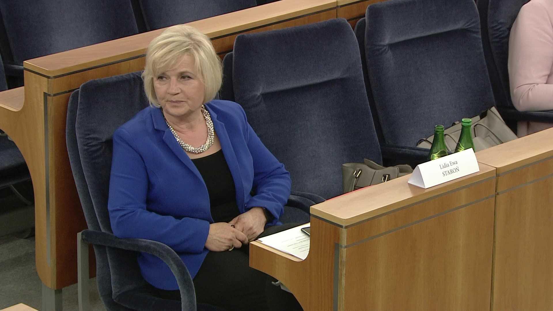 """Lidia Staroń komentuje swoją porażkę w głosowaniu w Senacie. """"Właśnie tak to jest"""""""