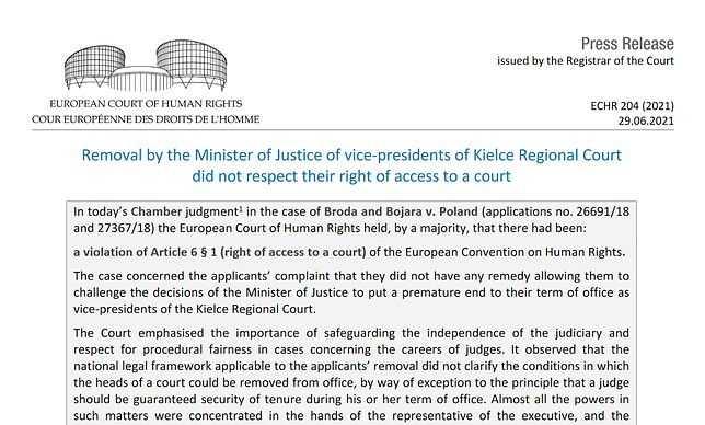 Wyrok Europejskiego Trybunału Praw Człowieka. Polska naruszyła Konwencję Praw Człowieka