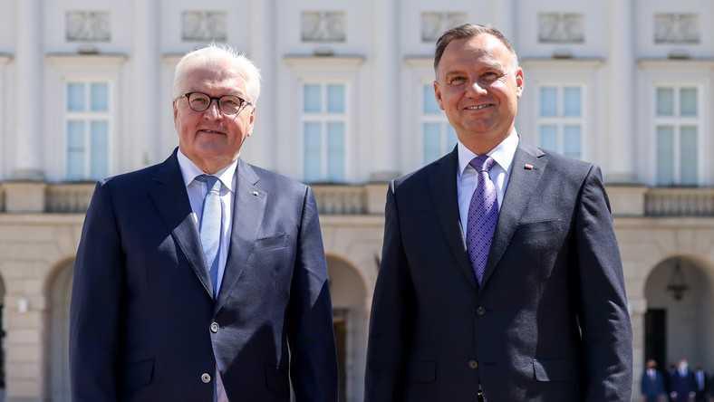 Frank-Walter Steinmeier w Polsce. Andrzej Duda: nie było to cukierkowe spotkanie