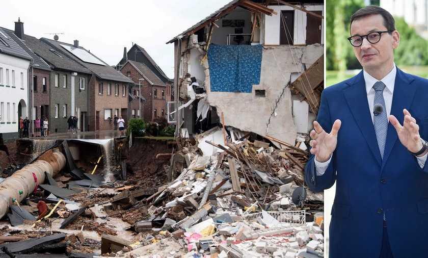 Polska oferuje Niemcom pomoc po powodzi. Mateusz Morawiecki zwrócił się do Angeli Merkel