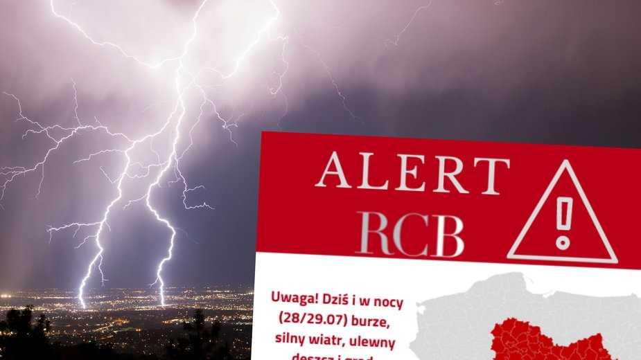 Gwałtowne burze nad Polską. Alert RCB dla siedmiu województw