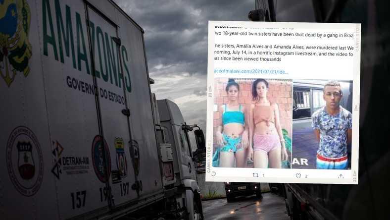 17-latek z Brazylii zabił bliźniaczki. Transmitował to w internecie