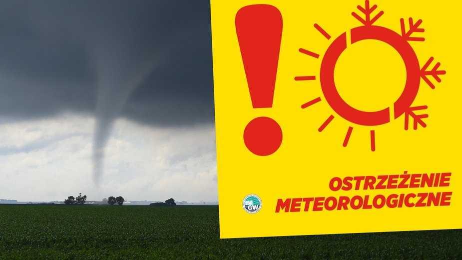Alert IMGW najwyższego stopnia przed burzami. Możliwa trąba powietrzna