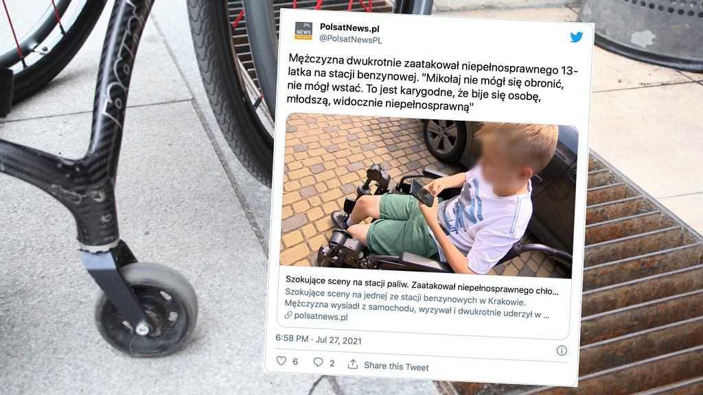 """Kraków. Mężczyzna zaatakował 13-latka z niepełnosprawnością. """"Nie mógł się obronić, nie mógł wstać"""""""