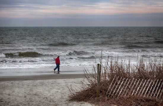 Poszedł popływać w morzu ze swoim psem. Po wyjściu z wody przeżył prawdziwe piekło