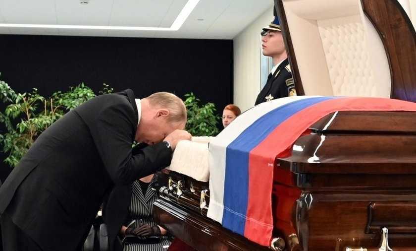 Władimir Putin pożegnał przyjaciela. Nad trumną ledwo powstrzymywał łzy