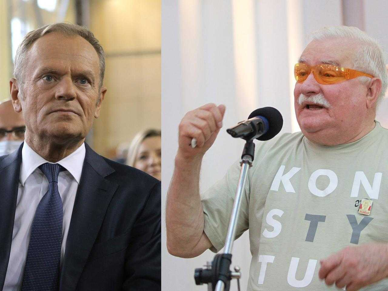Lech Wałęsa poucza Donalda Tuska. Stanowcze słowa o szarpaniu