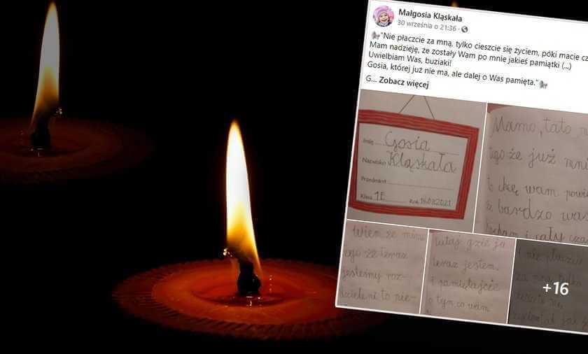 Wrocław: Ośmioletnia Małgosia napisała pożegnalny list do rodziców. Jej ostatnie słowa łapią za serce