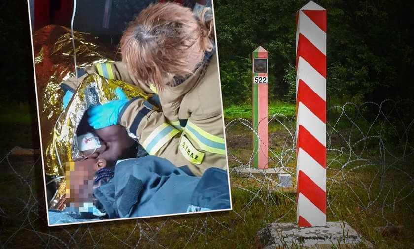 Dramatyczna akcja na granicy. 17-latka z Konga umierała na bagnach. Tak uratowali jej życie