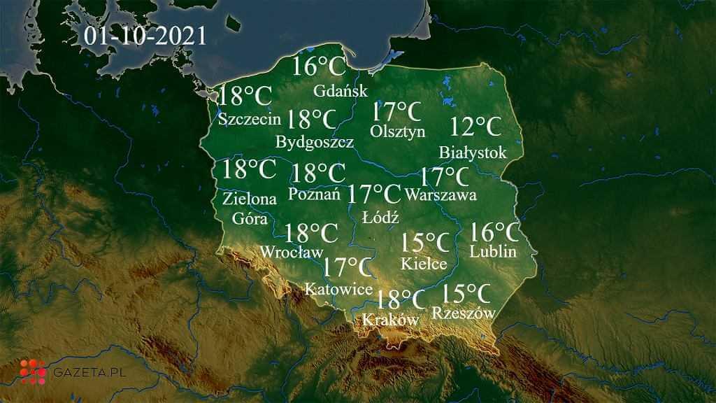 Pogoda na dziś - piątek 1 października. W której części Polski będzie najcieplej?